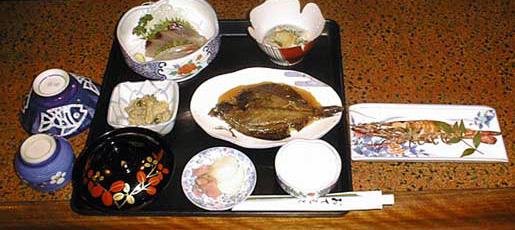 民宿一力の夕食例
