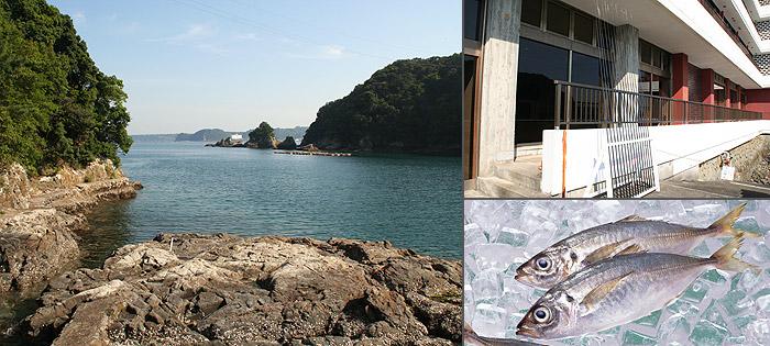 ホテル中の島目下の磯釣り場